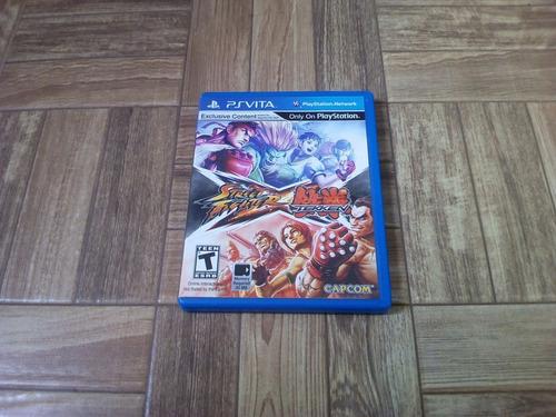 Jogo Ps Vita Street Fighter Vs Tekken Psvita