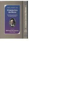 O Conciso Livro Das Mitzvot - Rabi Israel Meir Hacohen