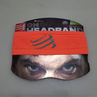 Bandana Compressport Headband On/off Black Naranja