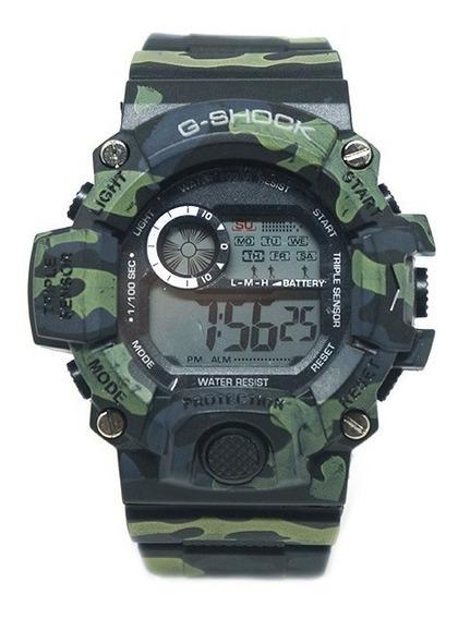 Relógio Digital Casio G-shock Camuflado Verde E Preto
