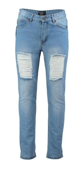 Pantalones Caballeros Boohoo Jeans Rígidos Slim Fit 28