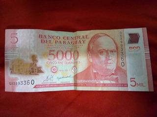Nota De 5000 Guaranies Ano De 2011 Moeda Corrente