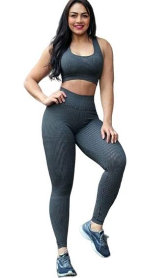 Conjuntos Calça Leg E Top Fitness Academia + Brinde