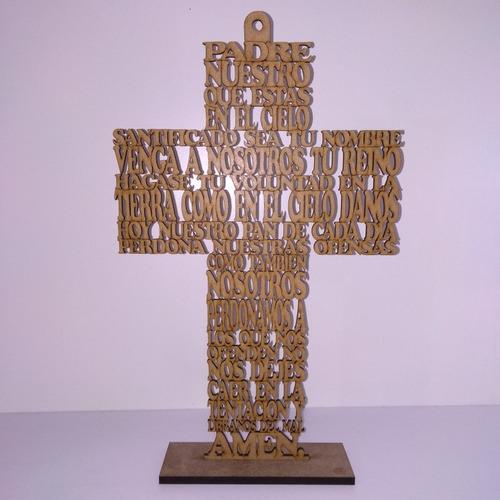 Cruz  Padre Nuestro, En Mdf