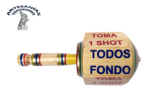Pirinola Toma Shots Extra Grandes De Madera, Juego De Mesa.