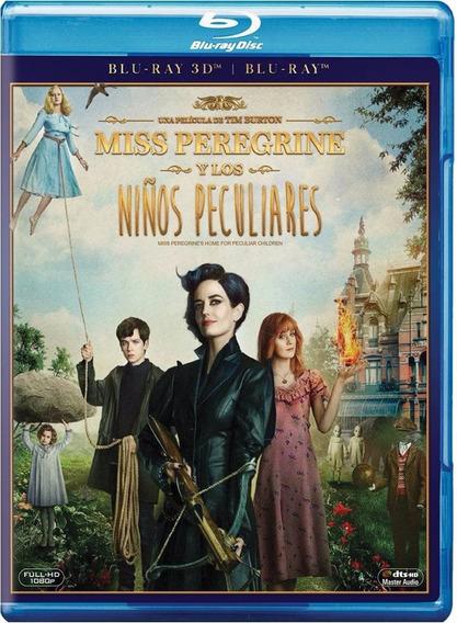 Miss Peregrine Y Los Niños Peculiares Pelicula 3d + Blu-ray