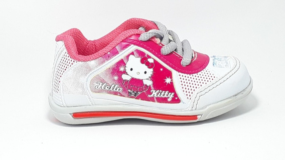 Tenis Infantil Feminino Hello Kitty Rosa Branco