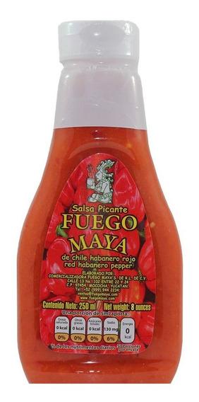 Salsa De Chile Habanero Rojo, Fuego Maya 250 Ml