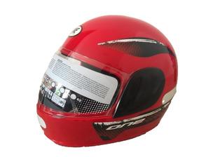 Capacete Moto Fly One Preto - Vermelho Feminino E Masculino