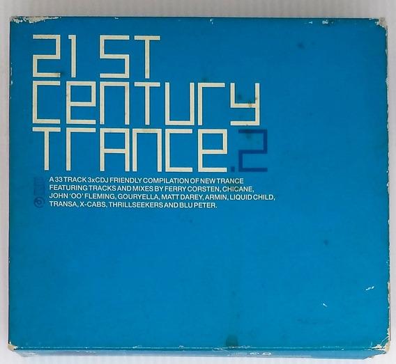 Box Cd 21st Century Trance 2 - 3 Cds - Seminovo