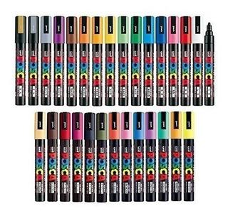 Uni Posca Paquete De Marcadores De Todos Los Colores Medi