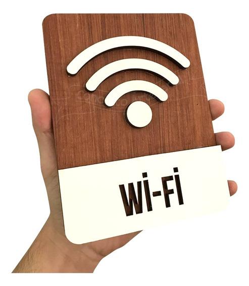 Quadro Decorativo Wi Fi Para Restaurantes Comércio E Lounge