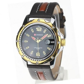 Relógio Masculino Curren Analógico Casual 8104 Preto