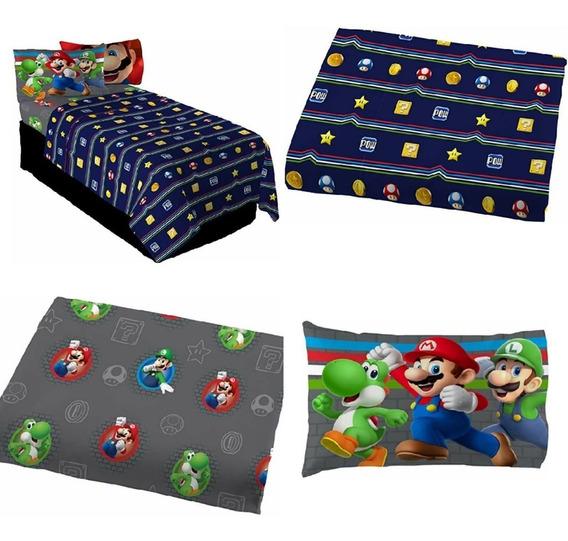 Juego De Sabanas. Super Mario Bros, Individual, De Lujo.
