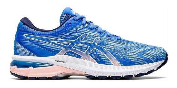 Zapatillas Asics Running Mujer Gt 2000 8 Azul Claro Ras