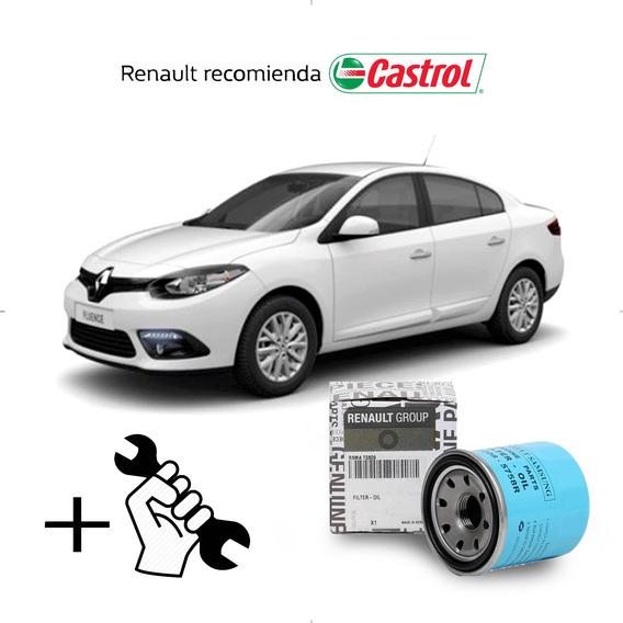 Cambio Filtro + Aceite Castrol 10w40 Renault Fluence 2.0 M4r