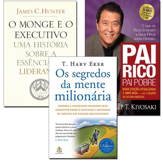Pai Rico Pai Pobre + O Monge E O Executivo + 1 Livro