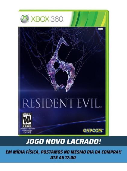 Resident Evil 6 P/ Xbox 360 Jogo Original Novo Lacrado