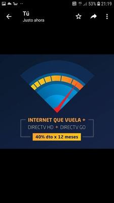 Inter+directv ( Internet 4,5g Consulte Cobertura