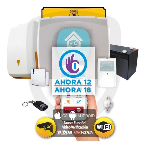 Kit Alarma Inalámbrica Marshall 3 Ip Wifi Aplicación Celular Marshall Smart Domiciliaria Hogar Casa Comercio Kit 2x6