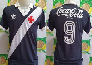 Camisa Futebol Vasco adidas Coca Cola # 9 Henrique 1988