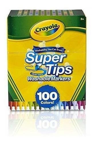 Imagen 1 de 6 de Marcadores Lavables Crayola Super Tips 100 Marcadores