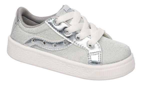 Zapatillas Star Silver Plumitas Oficial Para Niñas