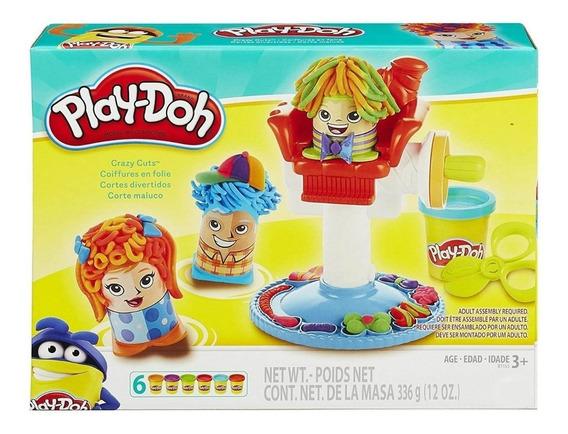 Set De Play-doh Peluquería Crazy Cut Plastilina