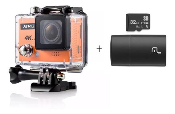 Camera De Ação Full Hd Cam 4k + Cartão 32gb Classe 10 Dc185
