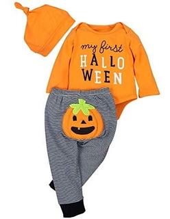 Bebé Niños Niñas Ropa Halloween Cuerpo Parte Superior Pelele