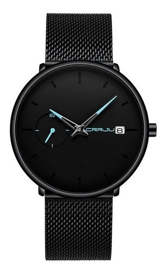 Relógio Masculino Crrju 2258 - Ultra Fino - (pronta Entrega) - Quartz