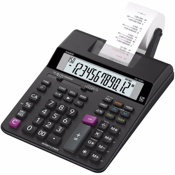 Calculadora Casio Hr-100rc Com Bobina De Impressão 2 Cores