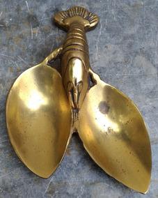 Petisqueira Em Formato De Lagosta Em Bronze