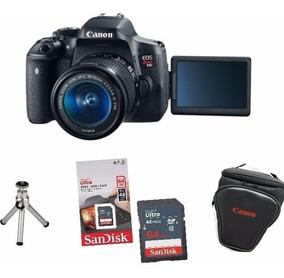 Câmera Canon Rebel T6i C/ 18-55mm Stm+ 64gb+ Bolsa+ Tripé