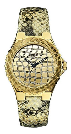 Guess W0227l2 Gold Tone Exotic Sport Watch Women
