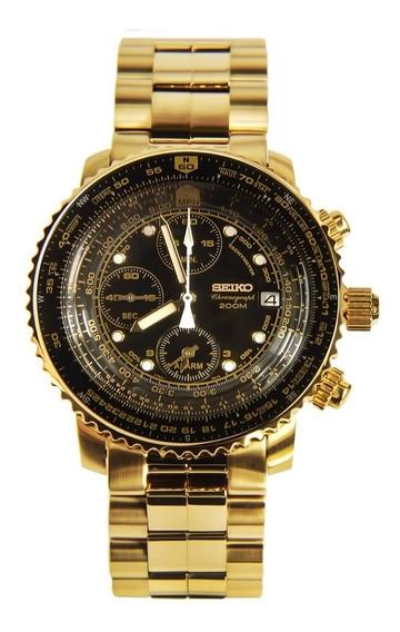 Reloj Seiko Sna414p1 Flightmaster Hombre Original