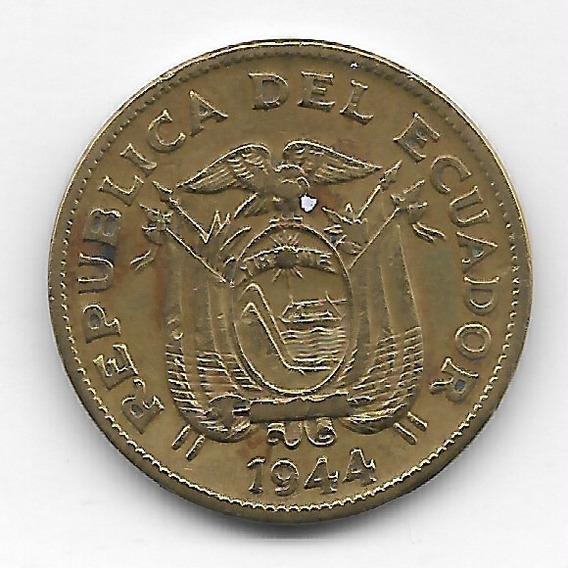 !!! Hermosa Moneda Del Ecuador 20 Centavos 1944 !!!
