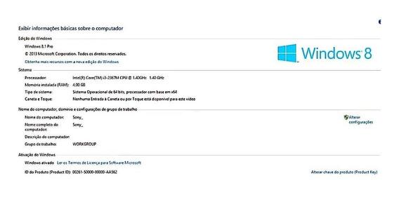 Ultrabook Sony Vaio 11.6 Led 4gb Ram 500gb Hd + Chromecast