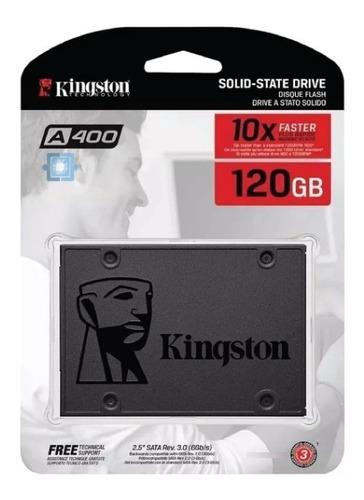 Imagen 1 de 5 de Disco Solido 120gb Kingston A400 Ssd 2.5 Notebook Pc