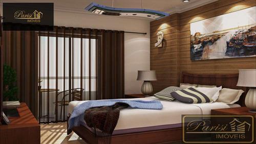 Imagem 1 de 17 de Apartamento Com 2 Dorms, Tupi, Praia Grande - R$ 332.000,00, 75,9m² - Codigo: 60 - V60