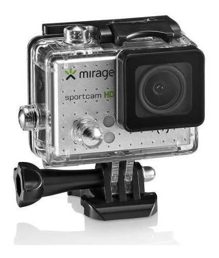 Câmera De Ação Mirage Sport Mr3000 Prata + 16gb Memória +kit