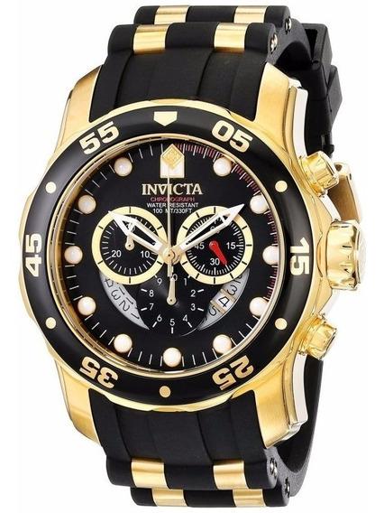 Relógio Invicta Importado Original Pro Diver 6981 Ouro 18k