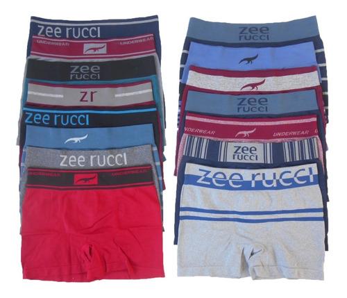 Cueca Boxer Sem Costura Poliamida Kit Com 10 Peças Zee Rucci