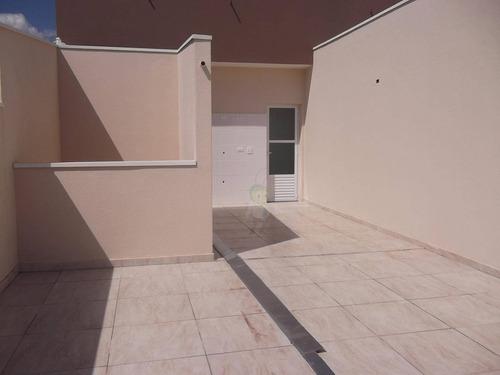 Cobertura Com 2 Dormitórios À Venda, 110 M² Por R$ 470.000,00 - Paraíso - Santo André/sp - Co0245