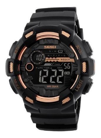 Relógio Masculino Digital Skmei 1243 Dourado