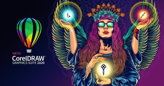 Corel Draw 2020 Full + Pack De Plantillas, Formas Y Fuentes
