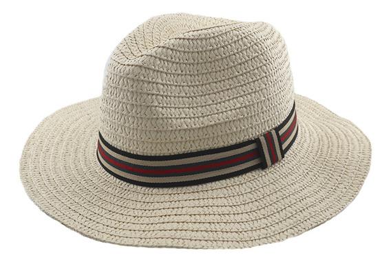 Sombrero Simil Panama C/ Cinta Adultos Unisex Art: 290113