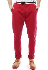 Calça Forum Serious Vermelha Masculina 40 Sarja Jeans