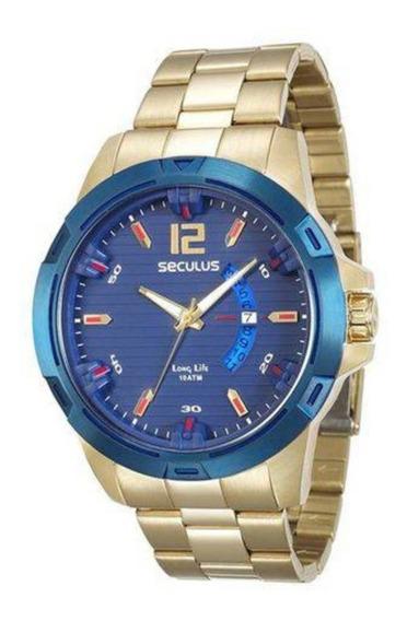 Relógio Seculus Masculino 28741gpsvla1