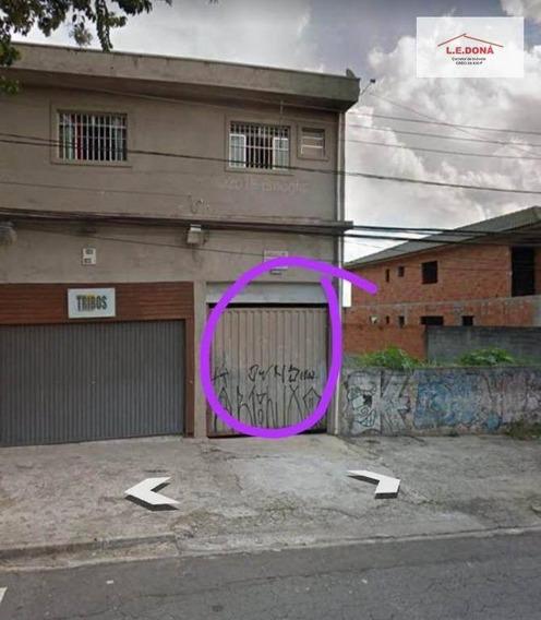 Salão Para Alugar, 250 M² Por R$ 2.500/mês - Jardim Ester Yolanda - São Paulo/sp - Sl0045